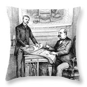 Roosevelt Cartoon, 1884 Throw Pillow by Granger