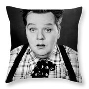 Roscoe Fatty Arbuckle Throw Pillow