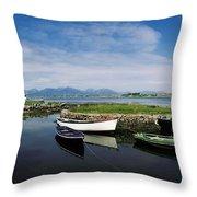 Roundstone, Connemara, Co Galway Throw Pillow