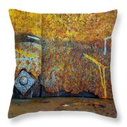 Rust Colors Throw Pillow