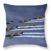 Saab 105 Jet Trainers Of The Swedish Throw Pillow