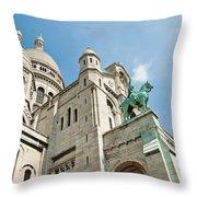 Sacre Coeur Basilica Paris France Throw Pillow