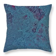 Satellite View Of Los Angeles Throw Pillow