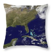 Satellite View Of The United States Throw Pillow
