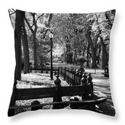 Scenes From Central Park Throw Pillow