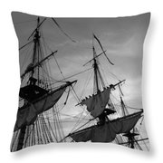 Setting Sails On A Tall Ship Throw Pillow
