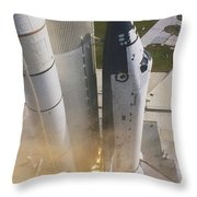 Shuttle Lift-off Throw Pillow