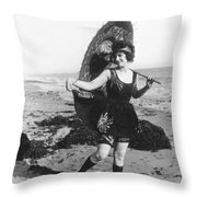Silent Still: Bather Throw Pillow