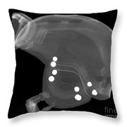 Ski Helmet Throw Pillow