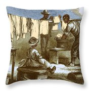Slaves In Union Camp Throw Pillow