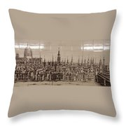 Southwark Bridge Artwork Throw Pillow