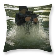 Special Operations Forces Soldier Throw Pillow