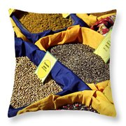 Spices On The Market Throw Pillow