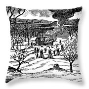 Spirit Lake Massacre, 1857 Throw Pillow