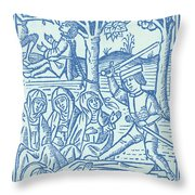 St. Catherine, Italian Philosopher Throw Pillow