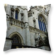 St Paul Cathedral Throw Pillow by Thomas R Fletcher