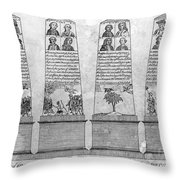 Stamp Act Repeal, 1766 Throw Pillow