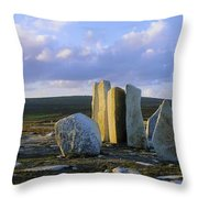 Standing Stones, Blacksod Point, Co Throw Pillow
