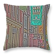 Streets Of Bel Air Throw Pillow