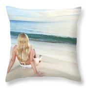 Sunrise Woman Throw Pillow