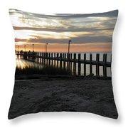 Sunset Cape Charles Virginia Throw Pillow