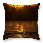 sunset santa Barbara Throw Pillow