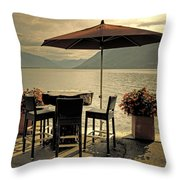 Table And Chairs Throw Pillow