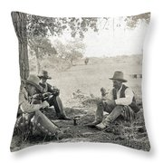 Texas: Cowboys, C1908 Throw Pillow