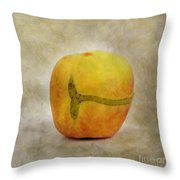Textured Apple Throw Pillow