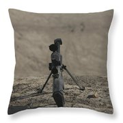 The Barrett M82a1 Sniper Rifle Throw Pillow
