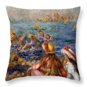 The Bathers Throw Pillow