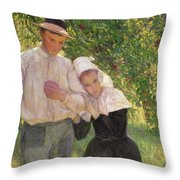 The Convalescent Throw Pillow