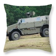 The Dingo 2 In Use By The Belgian Army Throw Pillow