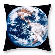 The Earth Throw Pillow by Stocktrek Images