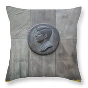 The John F. Kennedy Memorial At Veterans Memorial Park In Hyanni Throw Pillow