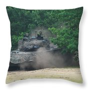 The Leopard 1a5 Main Battle Tank Throw Pillow
