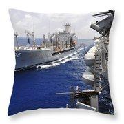 The Military Sealift Command Fleet Throw Pillow