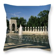 The Pacific Pavilion And Pillars Throw Pillow