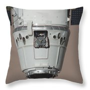 The Spacex Dragon Commercial Cargo Throw Pillow