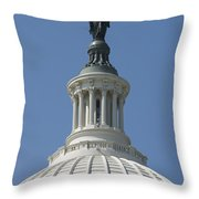 The United States Capitol Building Dome Throw Pillow