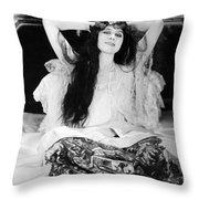 Theda Bara (1885-1955) Throw Pillow