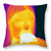 Thermogram Of A Girl Throw Pillow