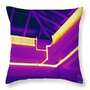 Thermogram Of Steam Pipes Throw Pillow