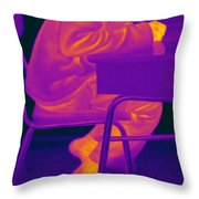 Thermography Throw Pillow