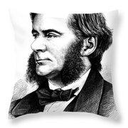 Thomas Huxley, English Biologist Throw Pillow