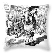 Thomas Nast (1840-1902) Throw Pillow by Granger