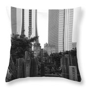 Tokyo Throw Pillow by Bernard Wolff