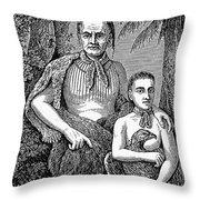 Tomo-chichi (1642-1739) Throw Pillow
