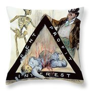 Triangle Factory Fire Throw Pillow