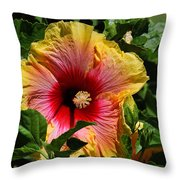 Tropical Beauty Throw Pillow